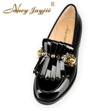 Nancyjayjii NEW 2017 SPRING&AUTUMN Women's Comfortable Walking Black Round Toe Flat Heels shoes,Plus Size 4 -16,Dress&Wedding