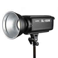 Nuevo LED Godox SL-150W 150Ws versión blanca 5600K luz LED de vídeo estudio continua lámpara Bowens montaje + Control remoto