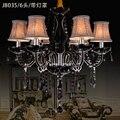 فلوش جبل الحديثة الأسود كريستال الثريا أباجورة lustres دي كريستال سالا الثريات الموردين lambadari مصباح الحديثة