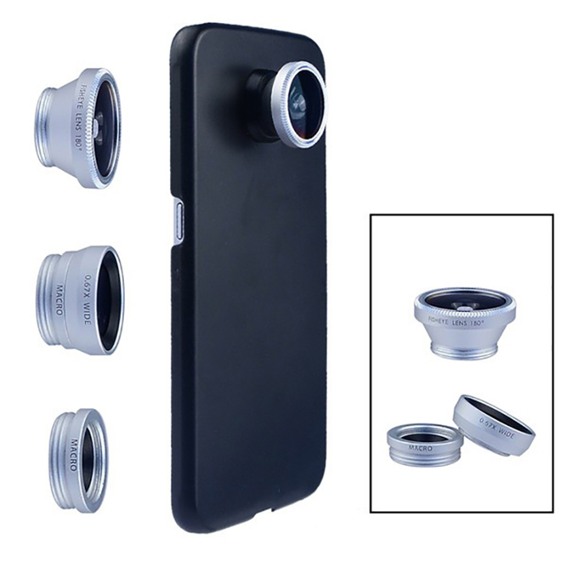 new products eb3bf cc5f5 US $6.8 20% OFF Apexel Camera Lens With Case 3in1 Fish Eye Lens Wide Angle  Macro lens For Samsung Galaxy S7 edge plus S6/5/4/3 CL 85-in Mobile Phone  ...