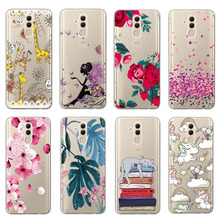 Clear Patterned Slim Soft Rubber Silicone Case Cover sFor Huawei Mate 20 Lite Ultra Thin Capa Coque For Huawei Mate 20 Lite Case