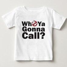 Ghostbusters Crianças Roupas Camiseta Infantil T-shirt Da Menina do Menino Da Criança 100% Puro Algodão Verão Tripulação Pescoço Tshirt Criança