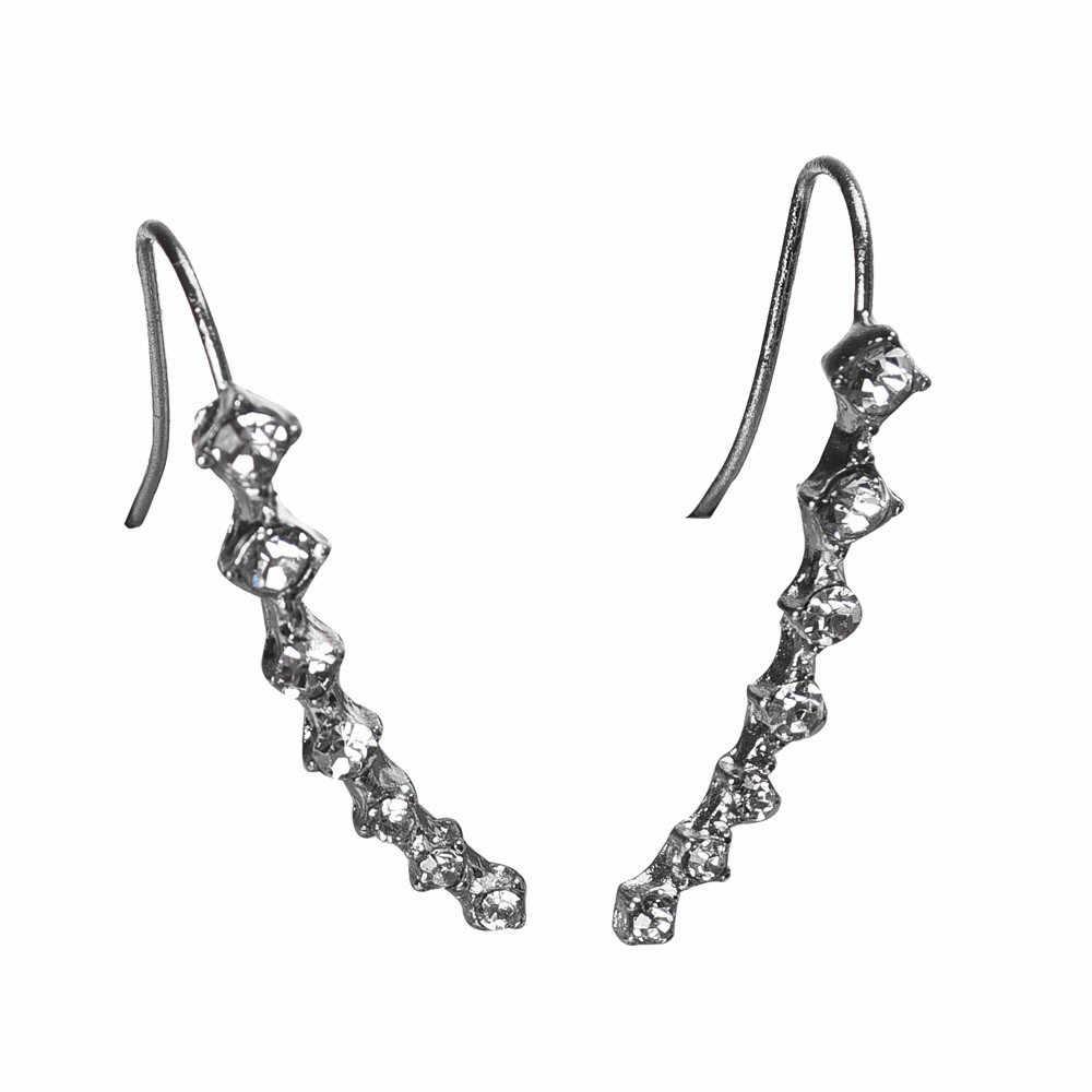 1Pair earrings for women Rhinestone Crystal Earrings Ear Hook Stud Jewelry gift
