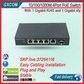 5 Port Gigabit Switch With 4-Port PoE And 1 Gigabit SFP Fiber Port Gibabit Switch 4 Poe Switch