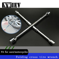 NWIEV Cross type Folding Wrench Car Repair Tools For Volkswagen BMW E46 E39 Mini Cooper Audi A4 B6 B8 A5 Ford Fiesta Accessories
