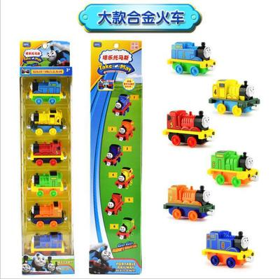 Thomas train Thomas small locomotive alloy magnetic connection set children Thomas toy car model Christmas gifts