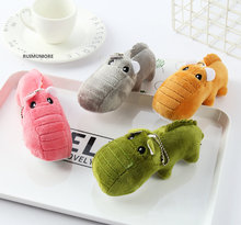Lovely All 4Colors, New 13CM Stuffed Animal Plush Toy , Crocodile Plush Toys , Delicate Keychain plush toys(China)