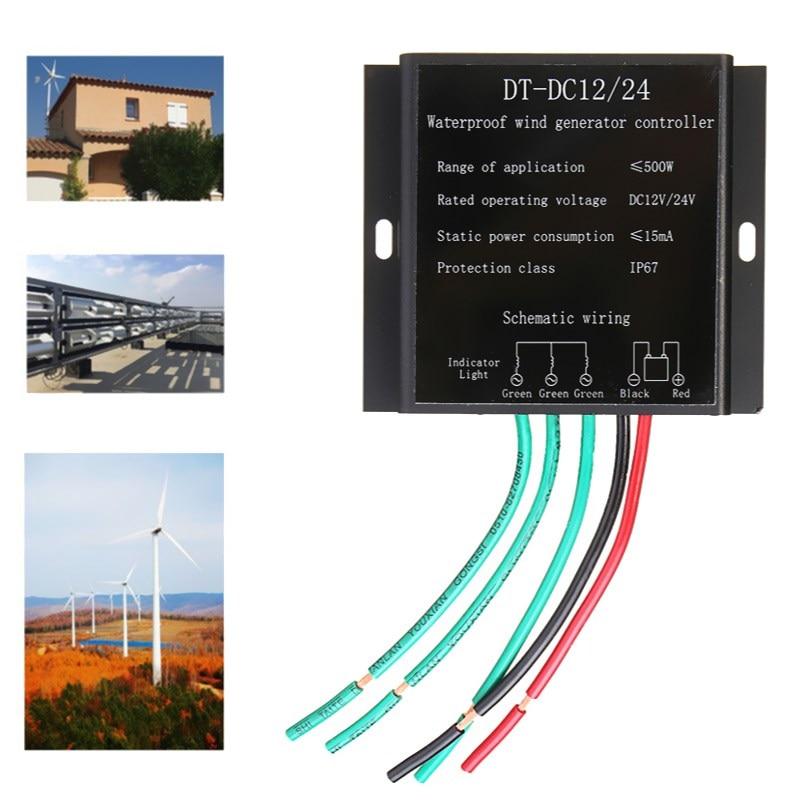 все цены на Wind Turbine Generator Battery Charge Controller IP67 Waterproof Wind Generator Controller For 100-500W Wind Generator онлайн