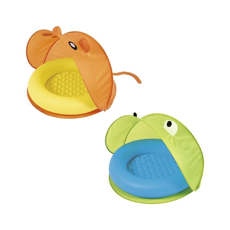 Dia 38 ''Gonflable Bébé Jouer Piscine Float Siège Avec Pare-Soleil tente de Bain Jouets Pour Enfants Piscine D'eau Fun Radeau Boia Piscina