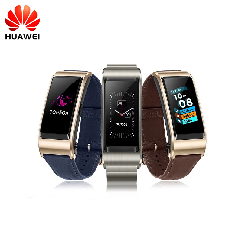 Original Huawei TalkBand B5 Wristband for Monitor Fitness Waterproof Bluetooth 1.13 inch Touch AMOLED Screen Bluetooth Earphone стоимость