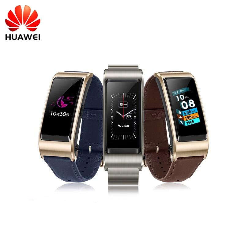 Original Huawei TalkBand B5 pulsera para Monitor de Fitness impermeable Bluetooth 1,13 pulgadas táctil Pantalla AMOLED Bluetooth auricular