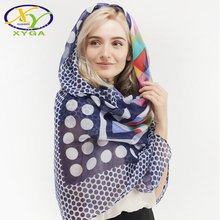 1PC Flower Printed Cotton Long Women Scarf  Thin Srping Female Acrylic Wraps Soft Summer Ladys New Viscose Pashminas Shawl