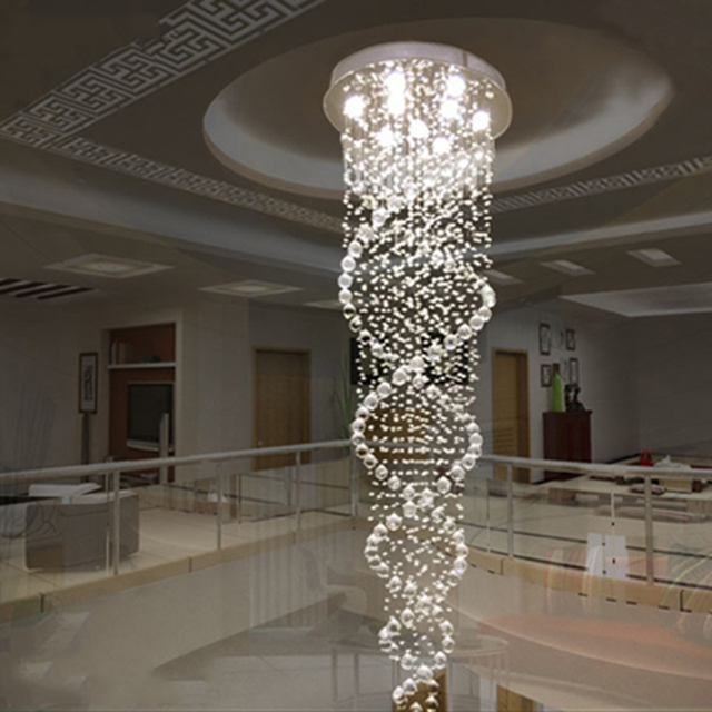Free shipping new modern k9 led crystal chandelier crystal lamp free shipping new modern k9 led crystal chandelier crystal lamp double spiral staircase chandeliers living room aloadofball Choice Image