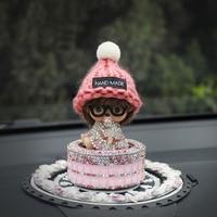 Car Ornament Wool Doll Perfume Air Freshener Smell Fragrance For Monchichi Essential Oil Auto Interior Dashboard
