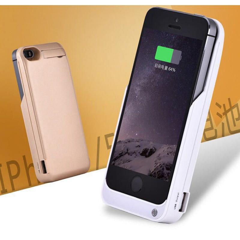 bilder für Goldfox 4200 mah externe batterie-backup-ladegerät fall für iphone 5 se notruf ladegerät fall für iphone 5 s