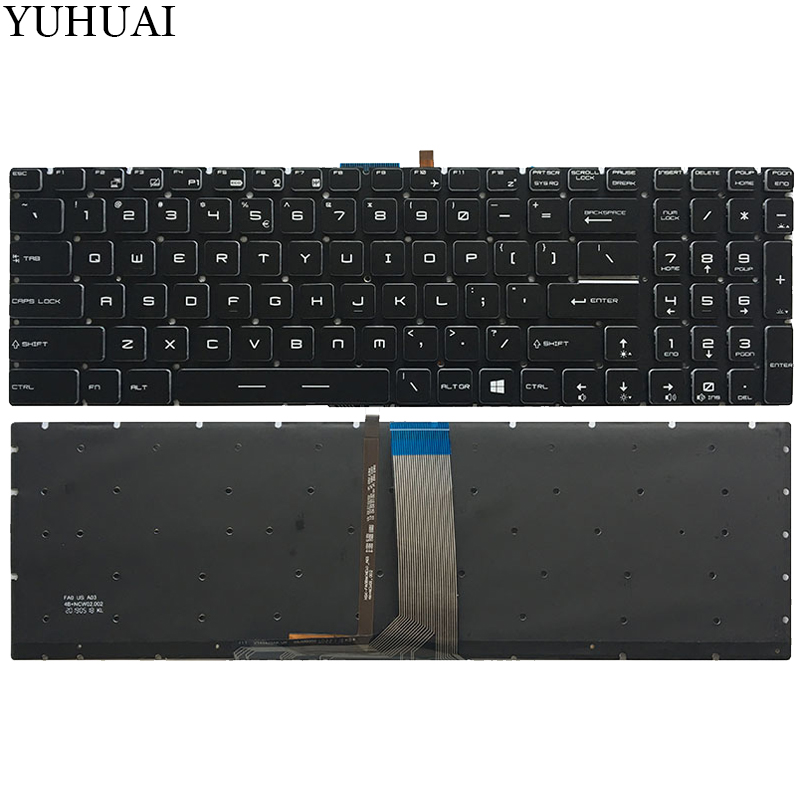 NEW US laptop keyboard For MSI MS 1795 MS 1796 MS 1799 MS 17B1 MS 17B4