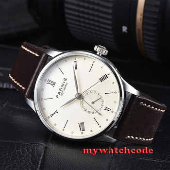 gift 42mm Parnis beige dial 24 Hours Handset ST1690 Automatic Movement Men Watch - DISCOUNT ITEM  31% OFF All Category