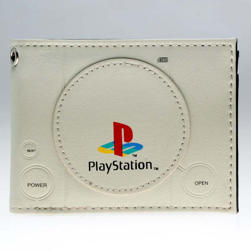playstation  wallet youth student individuality original paragraphs short transverse fashion purse  DFT-1980 playstation console shaped bifold pu wallet playstation dft 1250a