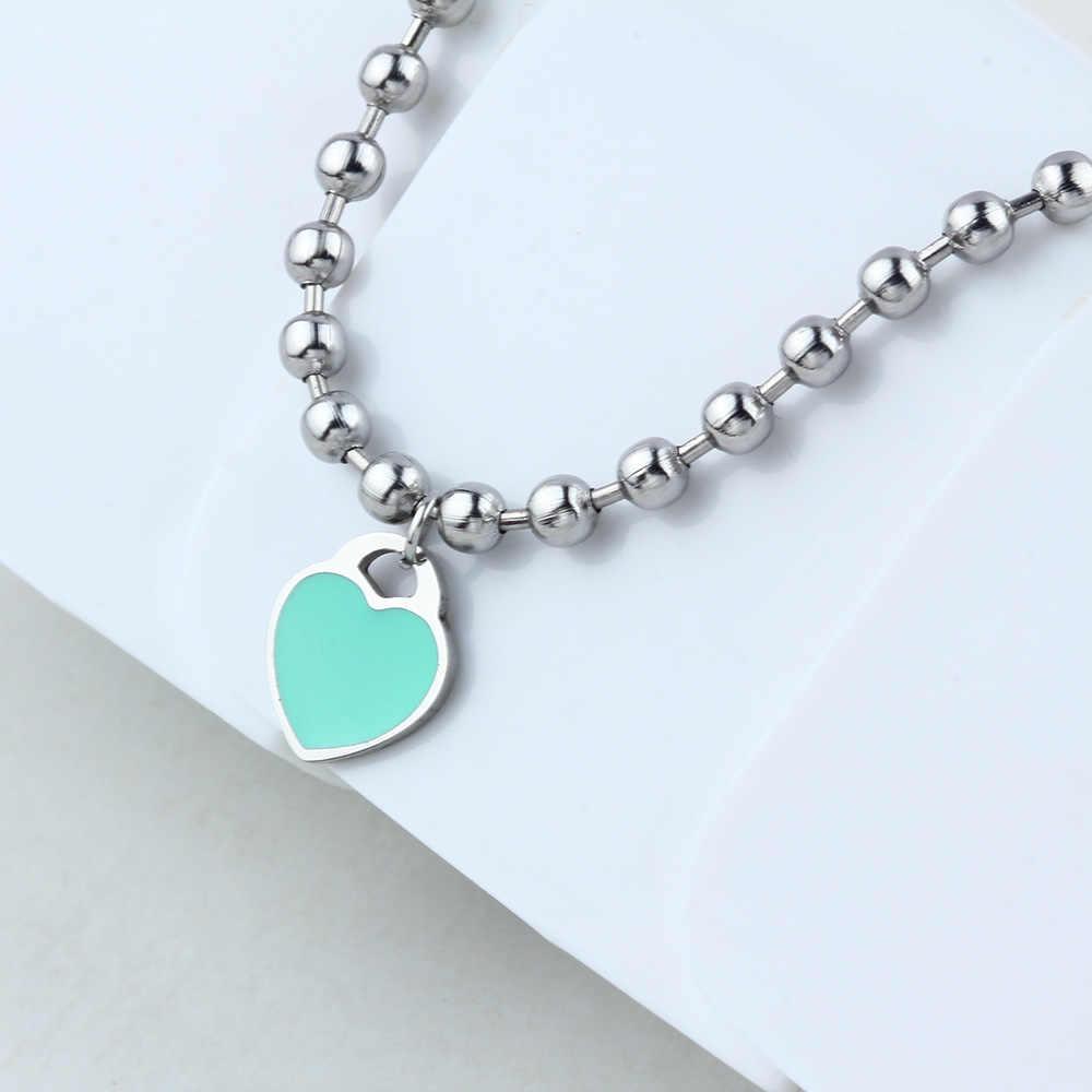 SHE WEIER charm bracelets& bangles beads femme gifts for women female stainless steel jewelry heart bead