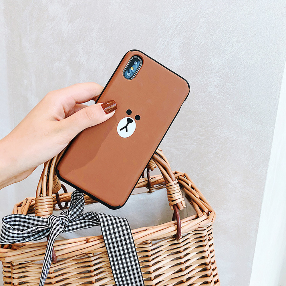 Slide-Phone-Cases-For-iPhone-6-6s-Plus-7-8-X-Xs-Brown-Bear-Make-Up-Mirror-Card-Slot-Silicone-Shockproof-Cute-Cartoon-Covers-SJ15- (4)