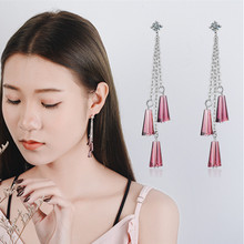 Everoyal New Fashion Lady Purple Crystal Drop Earrings Jewelry Trendy 925 Sterling Silver For Women Accessories