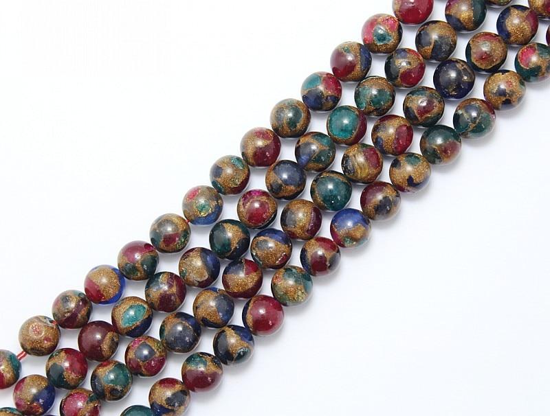 70pcs 6*8mm Bleu foncé AB Multicolores Diamond Cut Visage Perles