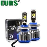 EURS TM 2PCS Top Quality T1 H4 Scoket T1 Turbo Led Car Headlight H1 H3 H7