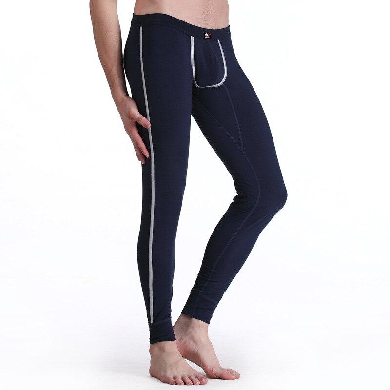 men long johns mens warm pants thin elastic line of men's fashion Sleep Pants cotton sexy underwear tight legging long Johns