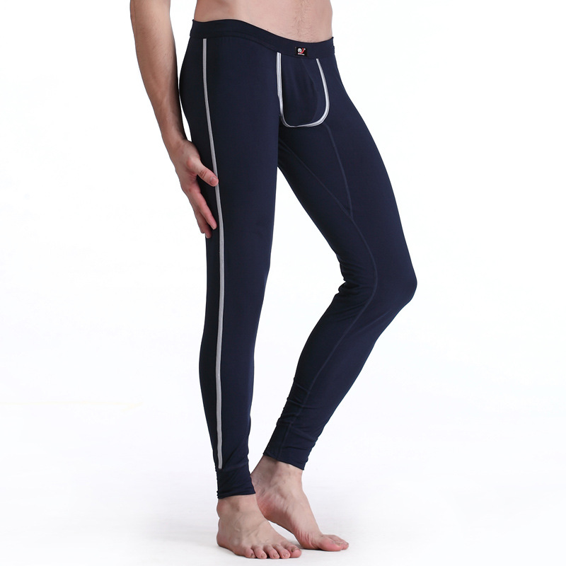 men long johns mens warm pants thin elastic line of mens fashion Sleep Pants cotton sexy underwear tight legging long Johns