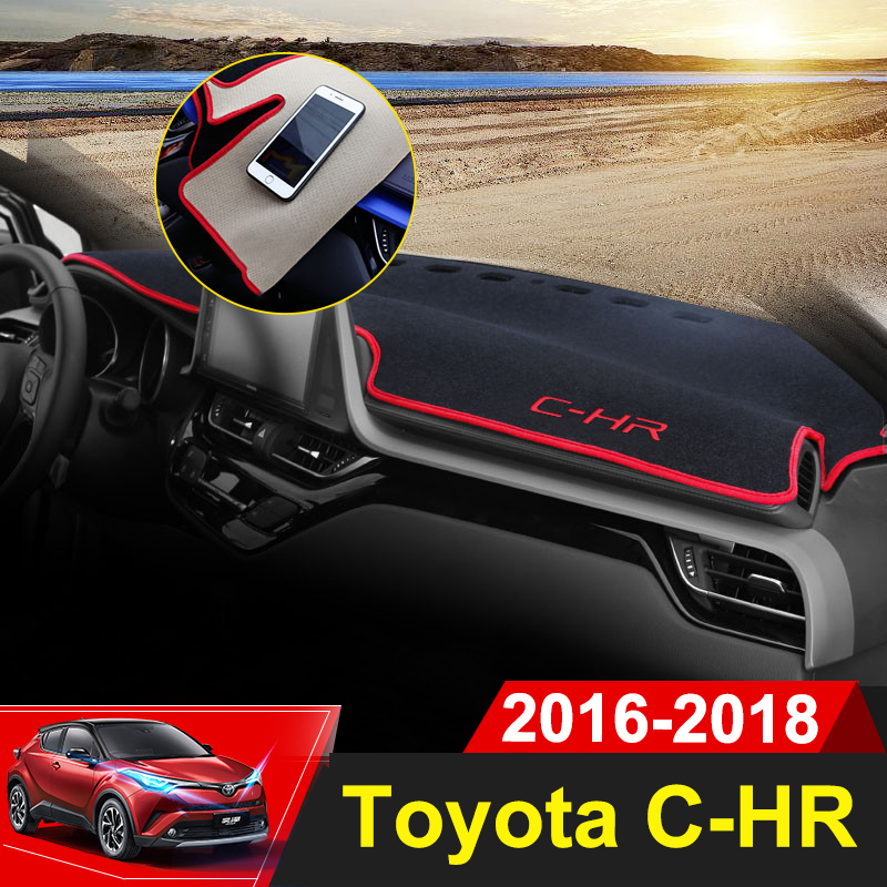 For Toyota C-HR CHR 2016 2017 2018 Car Dashboard Cover Mat Auto Sun Shade Cushion Pad Interior Protector Carpet Trim Accessories 2016 car styling dashboard protective mat shade cushion photophobism pad interior carpet for toyota crown 2004 2009