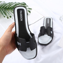 Women shoes 2018 new spring summer sandals espadrilles air non-slip skid resistance light soft black leather slipper fashion
