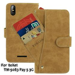 На Алиэкспресс купить чехол для смартфона vintage leather wallet texet tm-5083 pay 5 3g case 5дюйм. flip luxury card slots cover magnet stand phone protective bags