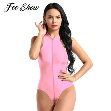 Womens Hot Sexy Body Lingerie One Piece Sheer Teddy Babydoll Leotard  Swimsuit Sleeveless High Cut Zippered Exotic Thong Bodysuit-in Teddies    Bodysuits from ... 2a809a454