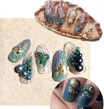 10Jars/Lot Gardient Rhinestones Chameleon Stone Balls 3D Nail Art Rhinestone Small Irregular Beads Manicure Nail Art Decorations цена 2017