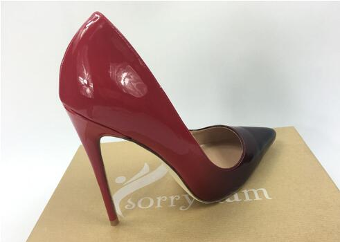 Negro Boda Las Cuero Alto Moda Kate Patente 10cm 2019 Mujeres Tacón 8cm De Zapatos Diseñador Desnudo Damas 12cm Bien SSzZpqP