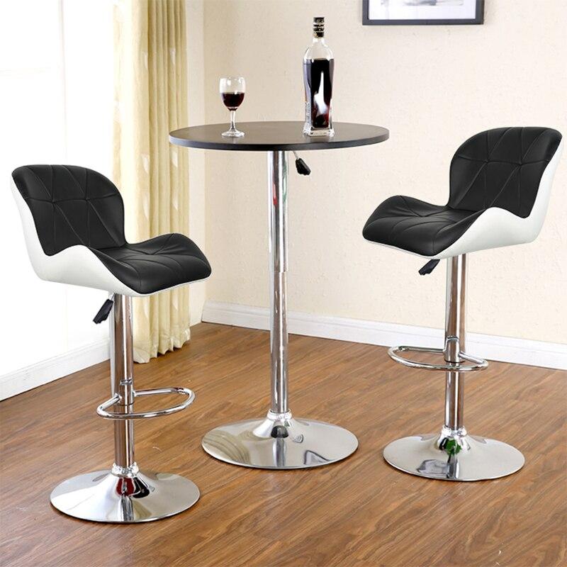 2 шт./пара Европейский квадратной формы спинка барный стул из искусственных волос из искусственной кожи вращающийся барные стулья пневматический паб стул HWC
