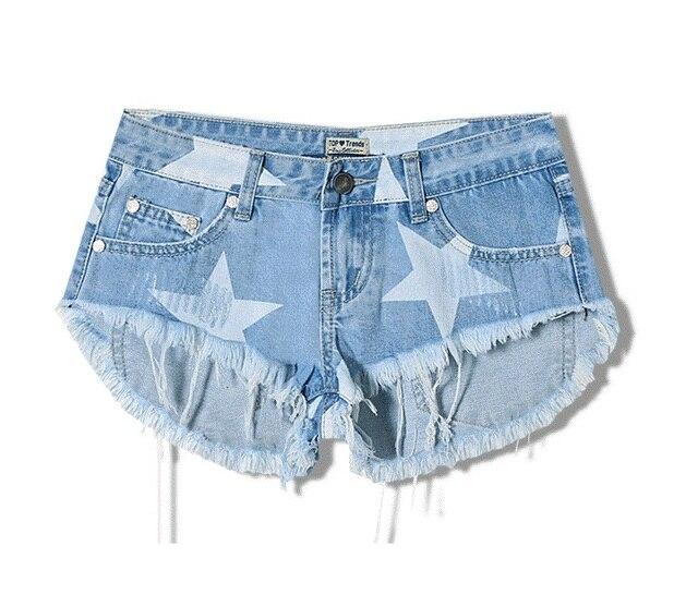 d7ace0c12441a summer women cloth Street style Ultra short shorts stars printed denim  shorts Hole tassel cat whisker denim shorts