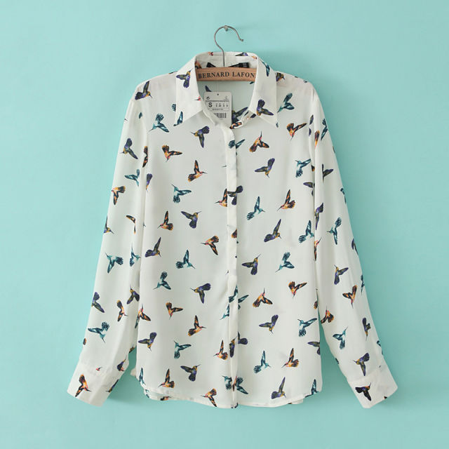 blouse vogels