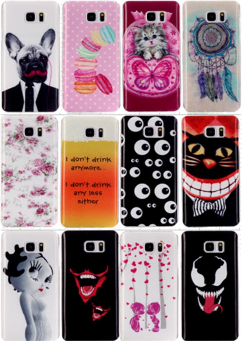 For Samsung Galaxy S6 S6 edge S7 S7 edge Soft TPU Case Fashion Diverse Pattern Anti-proof Phone Case