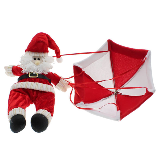 Christmas Home Ceiling Decorations Parachute Santa Claus Smowman New Year Hanging Pendant Decoration Supplies JK1408