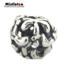 Ювелирные изделия из натуральной 925 пробы с серебряными милистыми бусинами подходят для европейских браслетов 3,0 мм