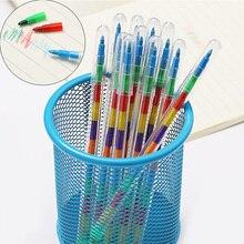 все цены на 2pcs/lot 10 Colors Replaceable Crayon Korean Creative Graffiti Kawaii Pens for Kids Painting Drawing Art Supply Cute Stationery онлайн