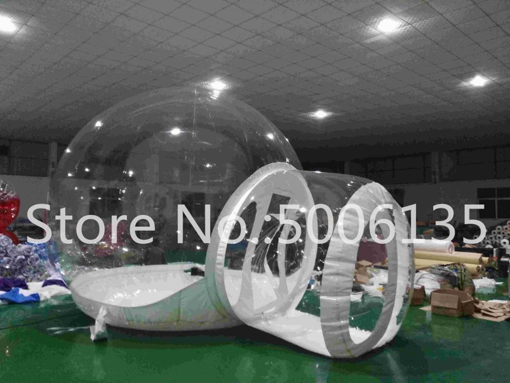 Чистый надувной пузырь палатка с туннелем для продажи китайский производитель, надувные палатки для торговых шоу, надувной сад палатка - Цвет: 2