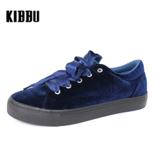 2017 Fashion Blue Sneakers Women Casual Walking Shoes Girl Suede Soft Lady Superstar Canvas Tenis Feminino #878675/01-02