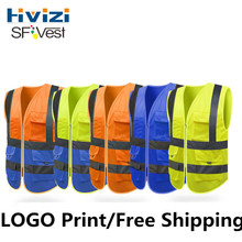 Hivizi Original Brand High Visibility Reflective Safety Vest Security Mesh Vest Waistcoat For Construction Traffic Mining(China)