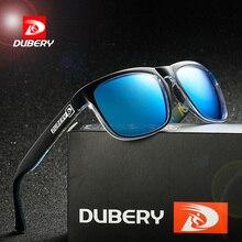 DUBERY Sunglasses Men Women Polarized New Fashion Square Vintage Sun Glasses Sport Driving Retro Mirror Luxury Brand UV400