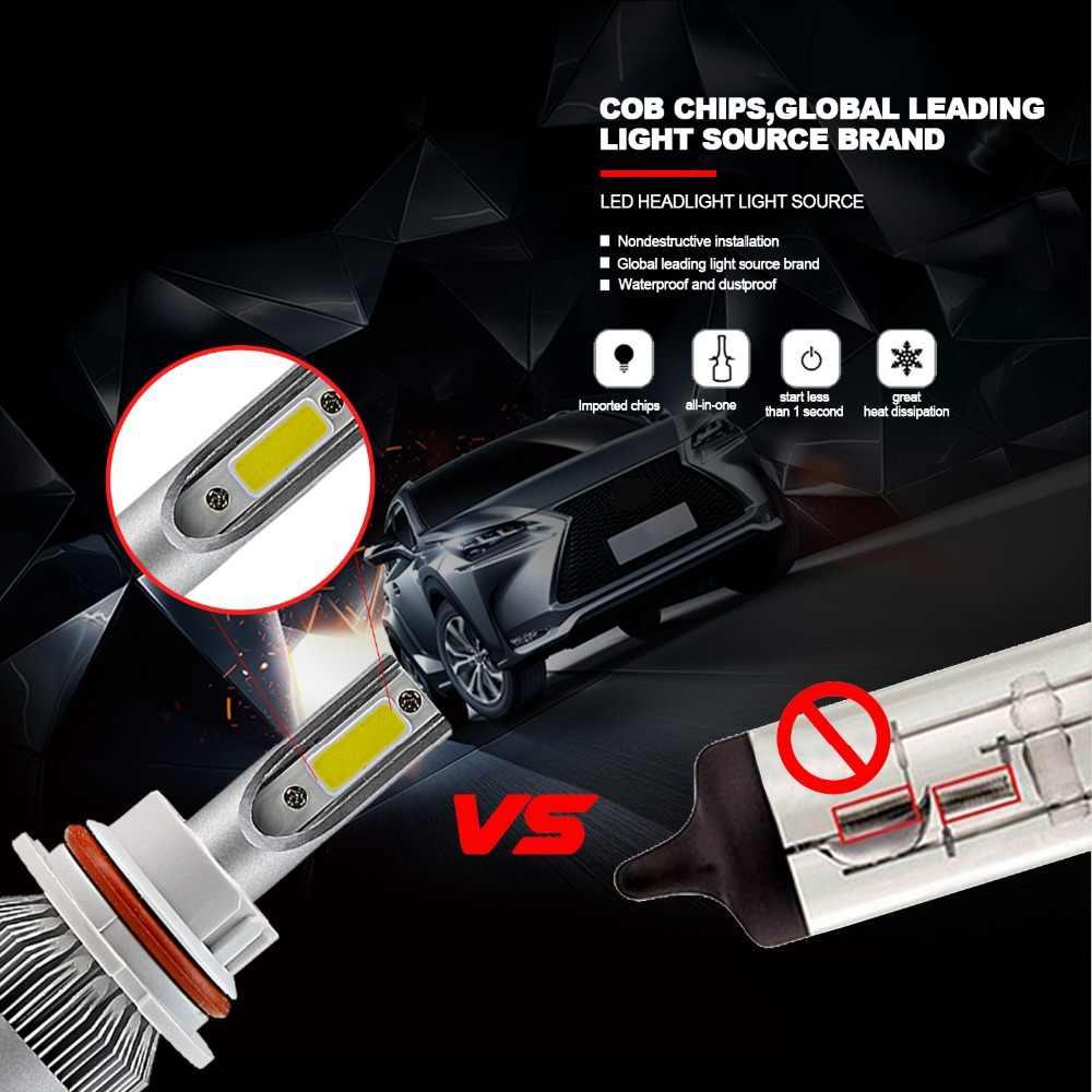 H7 H11 LED H4 H13 H1 Car Headlight Bulb 9005 LED 9006 HB2 HB3 HB5 H3 COB 72W Head Lamp Light White 6000k EJ