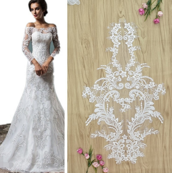 New Design Upscale Boutique Wedding Collar Patch Lace