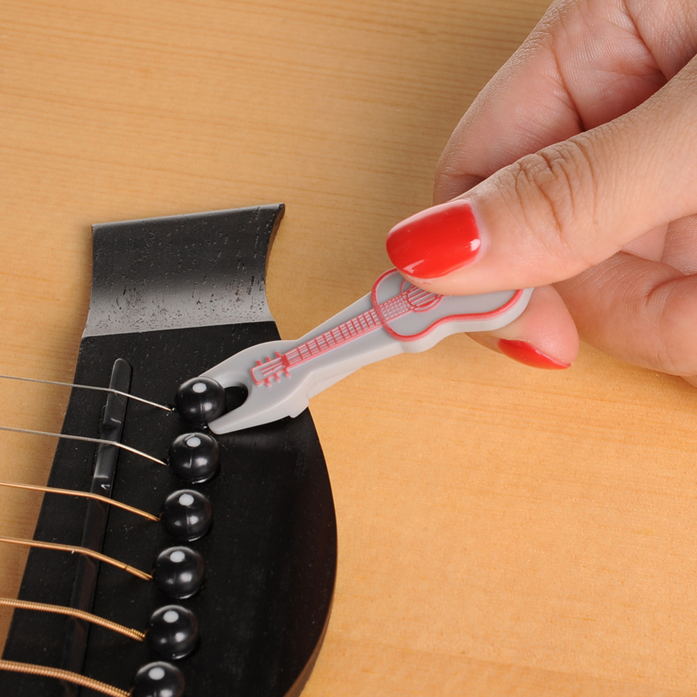 Guitar Accessories Guitar Nail Pulling Strings Tools Easy To Carry Use Steel ABS 3 Color Support Wholesale With Big Discount
