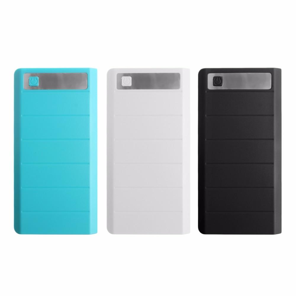 2017 Тип c вход 2 Порты USB 8X18650 DIY Портативный Батарея держатель LED Дисплей Запасные Аккумуляторы для телефонов Case Box (без батарея)